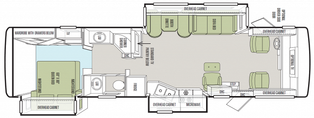 1637A Floorplan used 2014 tiffin allegro open road 34tga certified pre owned Allegro Open Road Bunkhouse at crackthecode.co