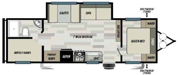 diagram of bunkhouse 2020 forest river evo 267ss bunkhouse  2020 forest river evo 267ss bunkhouse
